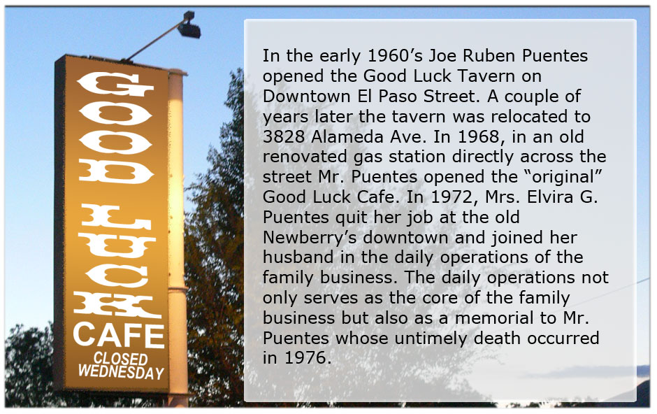 About Good Luck Cafe.